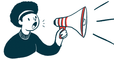 omaveloxolone | Friedreich's Ataxia News | Reata Pharmaceuticals | illustration of woman with megaphone